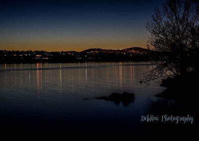Kennewick shoreline at sunset